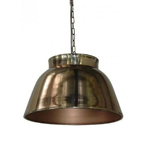 Copper Ceiling Bell Light