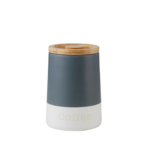 Embossed Grey Canister Coffee