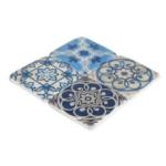 Patterned Vintage Tiles Set of 4