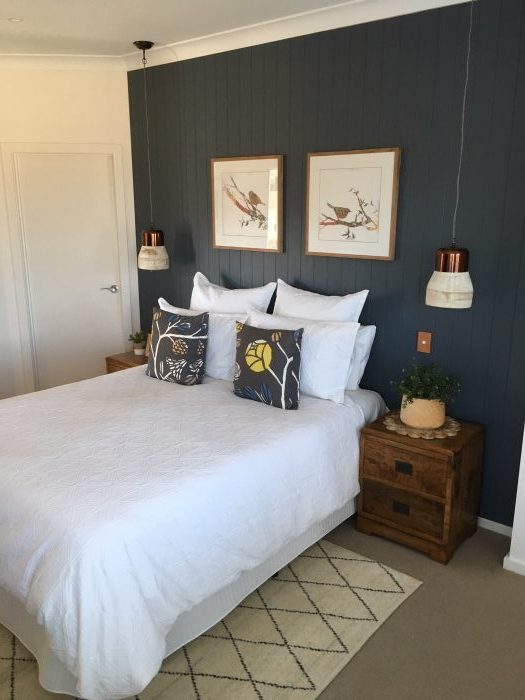 Bedroom Makeover Feature Wall Wood Paneling Higheight Home Living